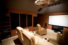 Home cinema basement renovation